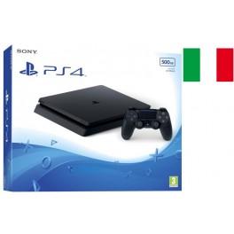 SONY PLAYSTATION PS4 SLIM 500GB CHASSIS E BLACK GARANZIA 24 MESI ITALIA