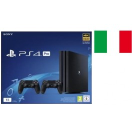 SONY PLAYSTATION PS4 PRO 1TB B CHASSIS 4K BLACK GARANZIA ITALIA + 2DS4