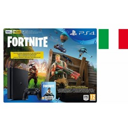 SONY PLAYSTATION PS4 SLIM 500GB CHASSIS E BLACK ITALIA   FORTNITE