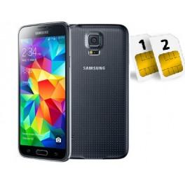 SAMSUNG GALAXY S5 SM- G900 FD 16GB DUAL SIM BLACK GARANZIA 24 MESI NO BRAND