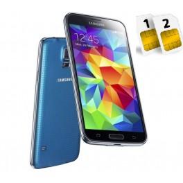 SAMSUNG GALAXY S5 SM- G900 FD 16GB DUAL SIM BLU GARANZIA 24 MESI NO BRAND