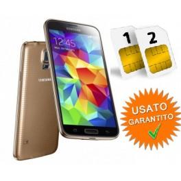 SAMSUNG GALAXY S5 MINI DUAL SIM SM- G800 H 16GB GOLD NO BRAND RESO NON PIACIUTO